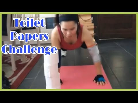 Motivate exercise toilet paper challenge