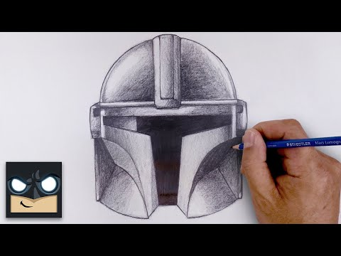 How To Draw The Mandalorian | Sketch Tutorial thumbnail