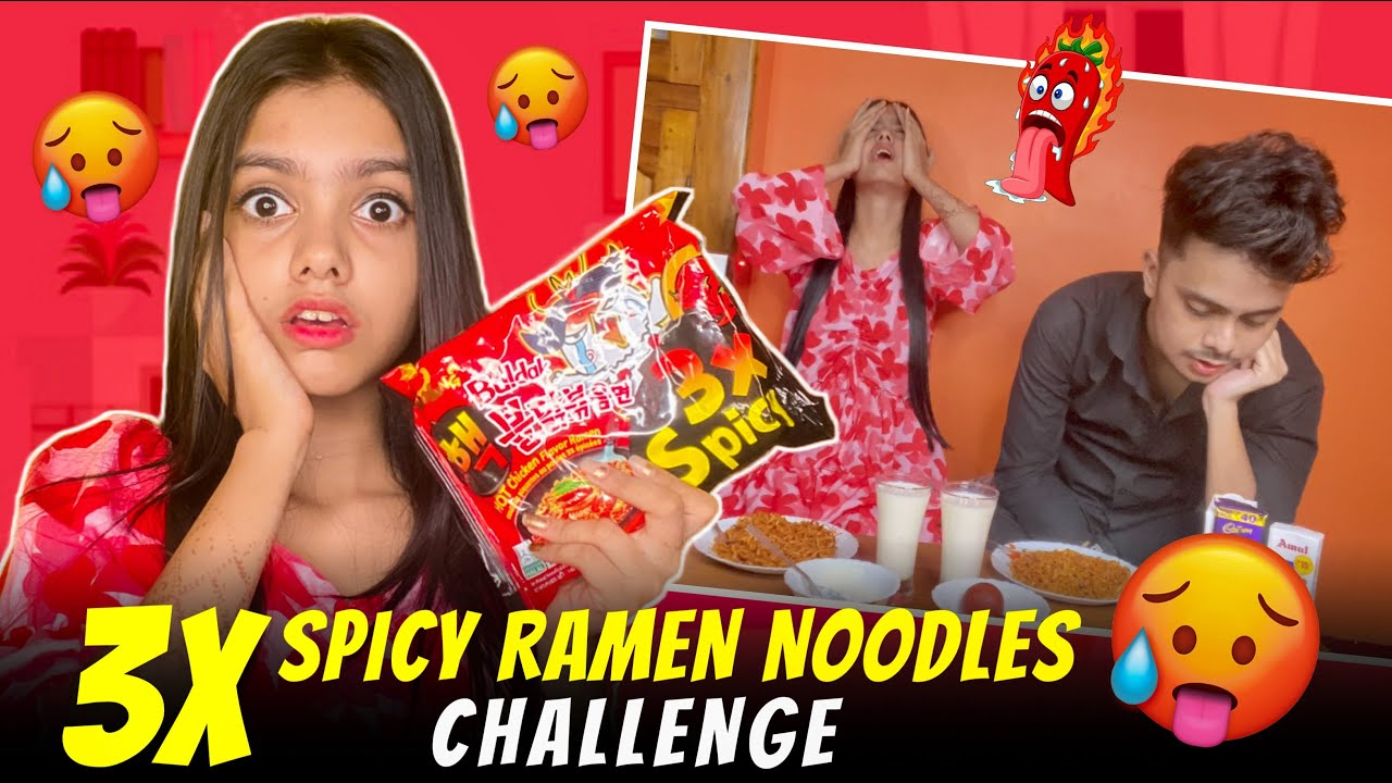 Download 3X SPICY RAMEN NOODLES CHALLENGE 🥵 || GONE EXTREMELY WRONG ❌|| AYANTIKA KAR