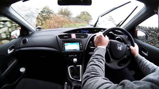 Virtual Video Test Drive Driving The Honda Civic 1.6   up The Struggle in The Lake District