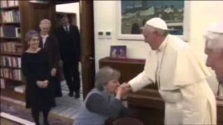 Pope Francis Visits Pope Benedict for Christmas Greetings