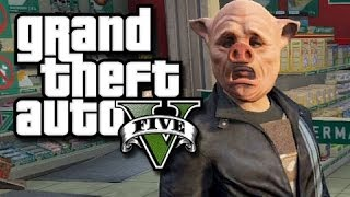 GTA 5 Online!  The Crew vs The Cops! #1 (GTA V Fails and Funny Moments!)