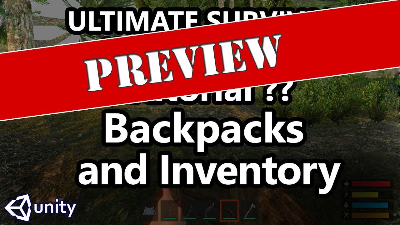 Unity survival inventory