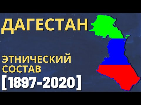 Дагестан. Этнический состав (1897-2020) [ENG SUB]