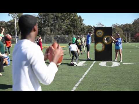 Sophomore Nails it - Football Throwing Competition - Olympics