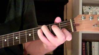 how to play the csus4 chord on guitar (c suspended fourth)
