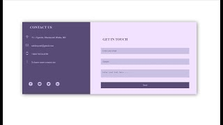 Contact Page Html Template Nervous