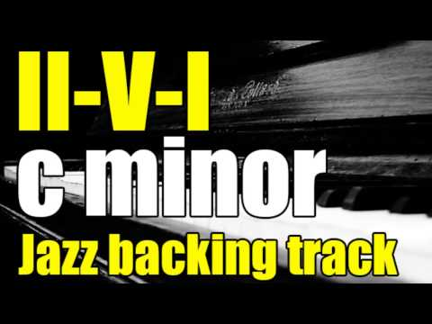 II-V-I in C minor | Jazz Backing track