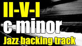 II-V-I in C minor | Jazz Backing track