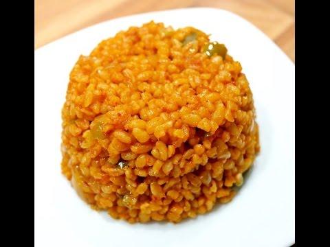 Orientalischer bulgur reis bulgur pilav vegan passt - Reis kochen tasse ...