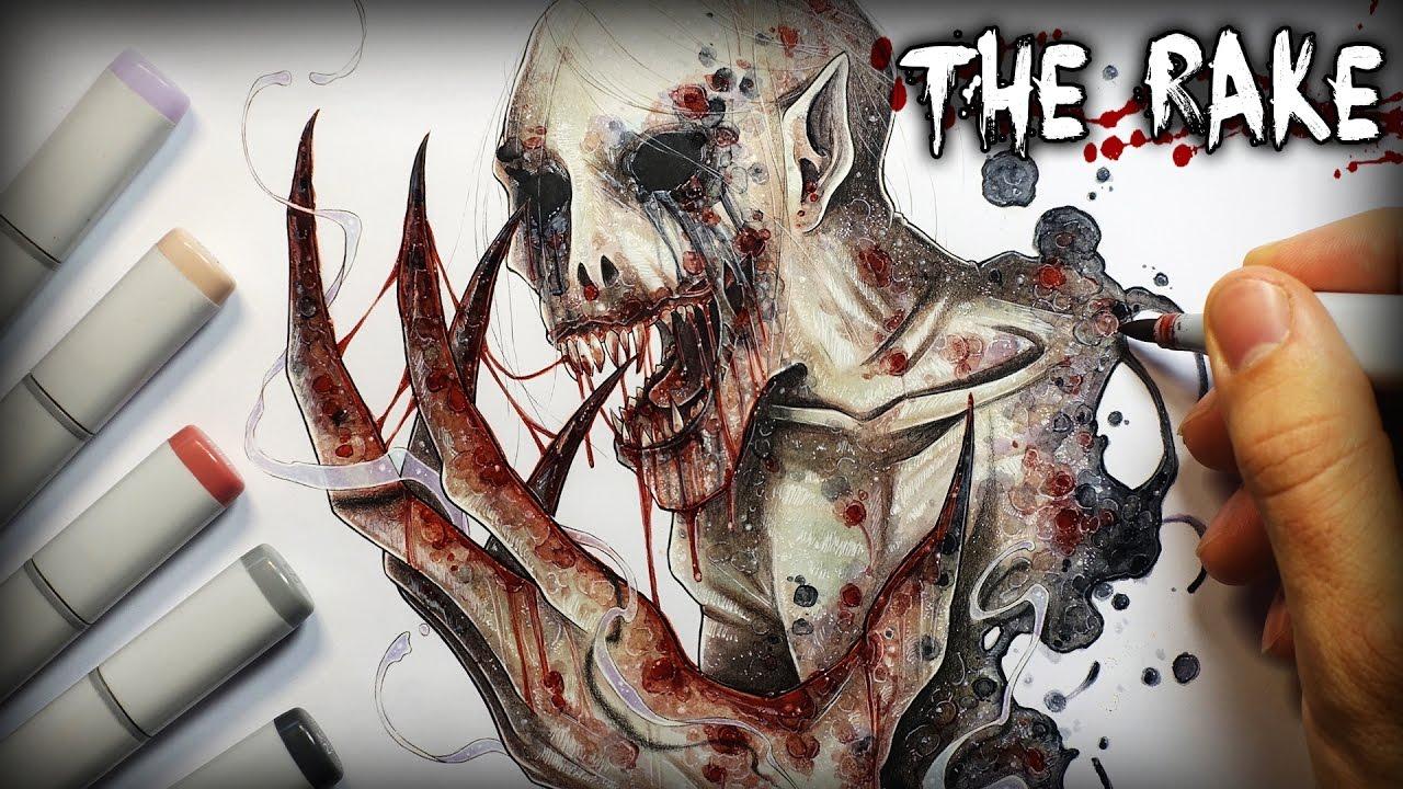 The rake horror story creepypasta drawing