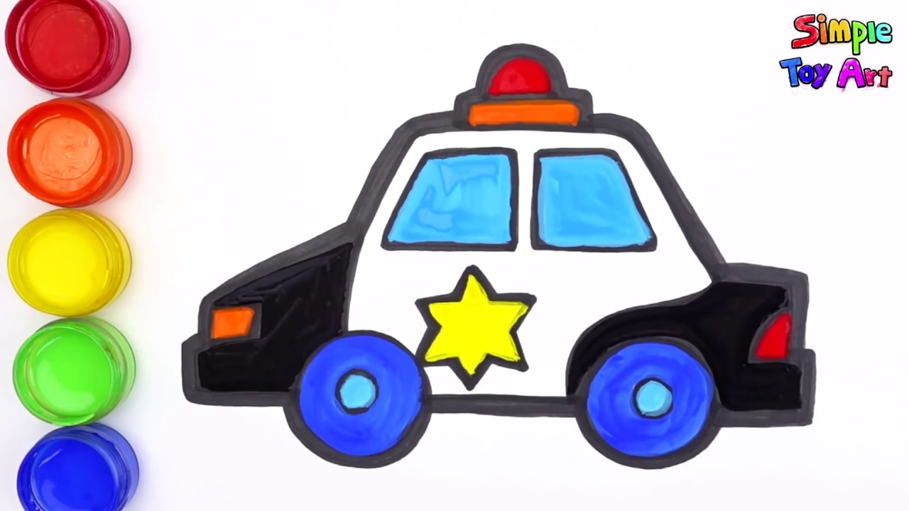 How to Draw a Police Supercar - Police Car Coloring Page ...