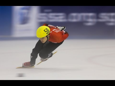 Lucas shines as international speed skating returns to Singapore