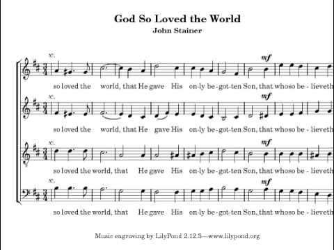 God So Loved The World John Stainer Manchester Chorale Youtube