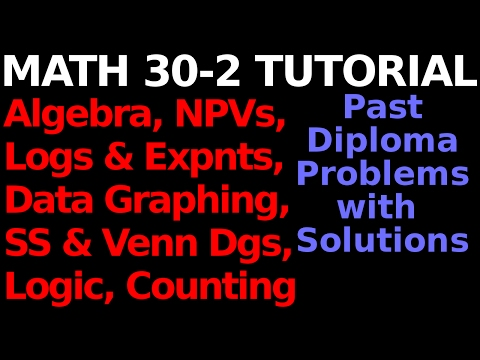 EXAM PREP : Math 30-2 : Past Diploma Questions