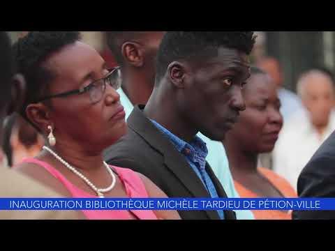 Inauguration bibliotheque Michelle Tardieu à Pétion Ville