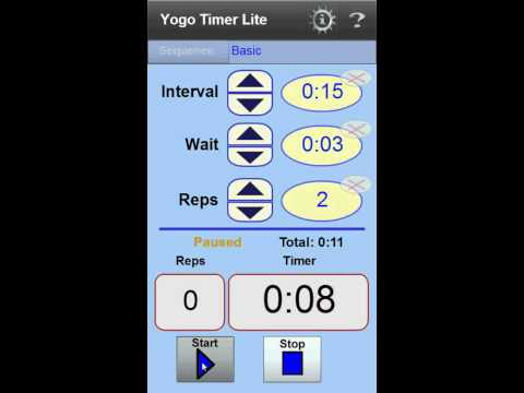 YogoTimer Lite- Interval Timer App For Android 2.2 Devices