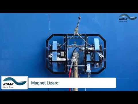WOMA Magnet Lizard | Paint stripping on ships