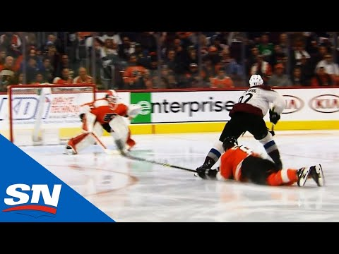Gabriel Landeskog Outskates Flyers' D To Score Back-hander On Brian Elliott