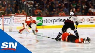 Gabriel Landeskog Outskates Flyers' D To Score Back-hander On Brian Elliott