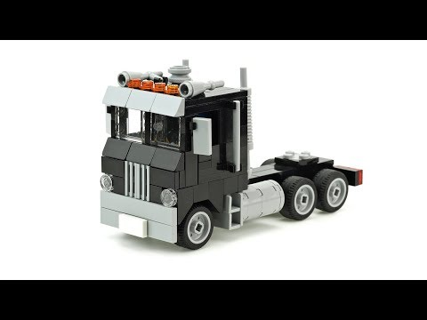 Lego Old Semi Truck Moc Building Instructions