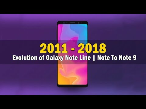 The Evolution of Samsungs Galaxy Note Line | From The First Galaxy Note to Note9
