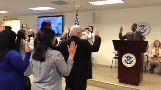 Repeat youtube video US Citizenship Oath Ceremony January 2015