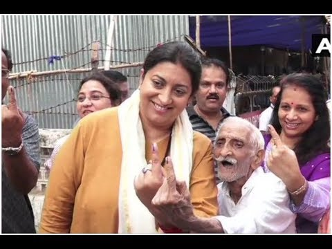 Smriti Irani Praises 93-Year-Old Voter, Asks if He Can, Why Can't You?