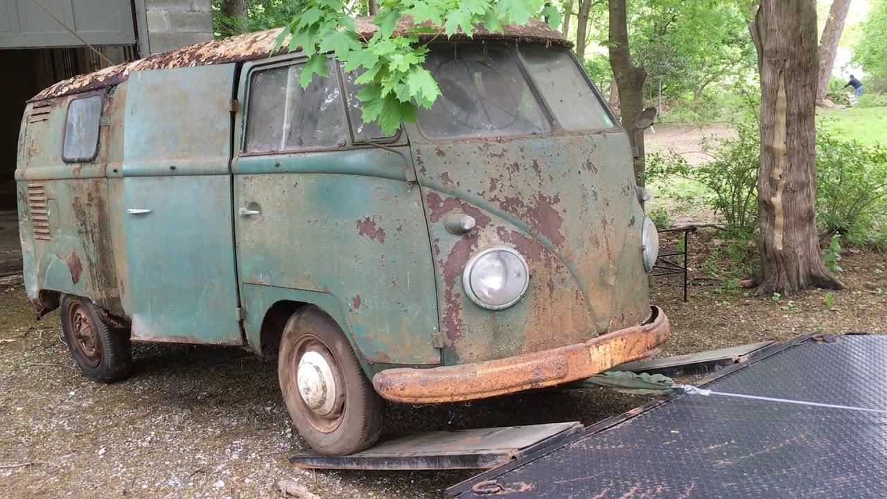 b74e4db618 Split window VW Bus Barn find! - YouTube