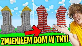 ZMIENILIŚMY DOM WIDZA W TNT ! | Minecraft Extreme !