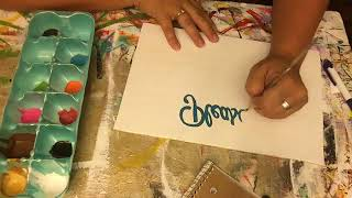 Easy Sign Lettering Technique ~ Anyone Can Do!