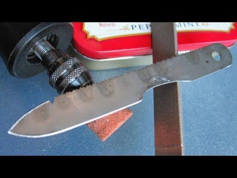 видео: Микро нож выживания своими руками за пол часа