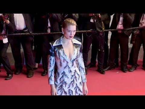 Lea Seydoux on the Zimna Wojna red carpet premiere in Cannes