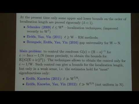 Local eigenvalue statistics of random band matrices - Tatyana Shcherbina