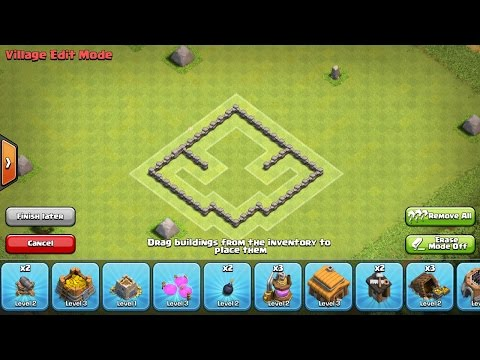 BEST Town Hall 3 Farming Base (Best Th3 Farming Base Tutorial 2016)