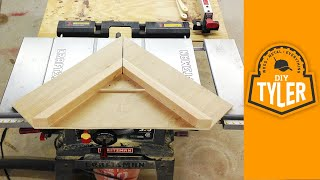 Make An Inexpensive Table Saw Miter Sled -- 004