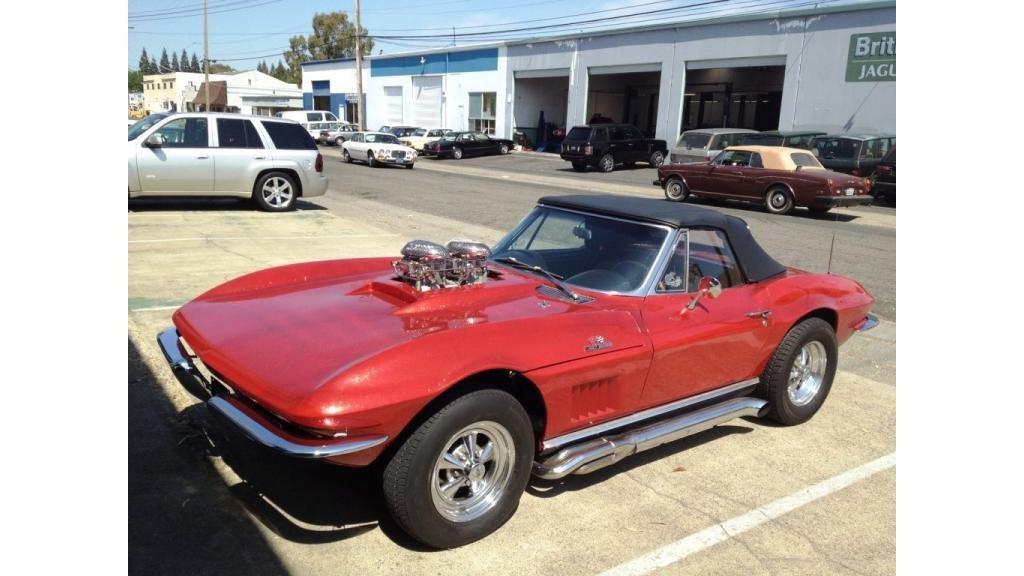 1966 Corvette Convertible Old School hot rod - YouTube