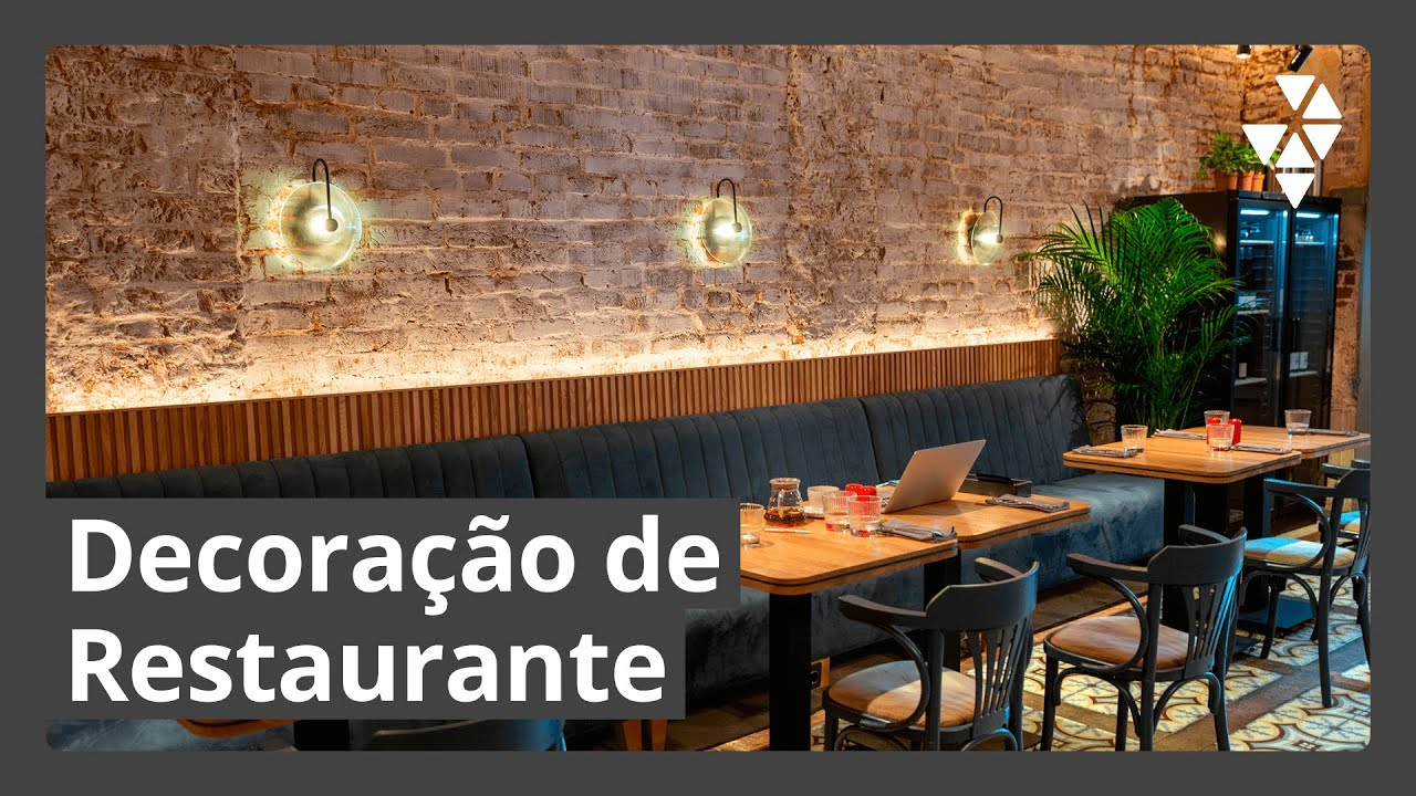 Decoraç u00e3o de restaurante Projetos para inspirar YouTube -> Decoração Simples Para Mesa De Restaurante