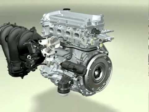 3D работа двигателя