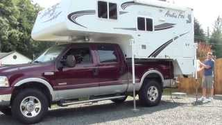 How to load a truck camper onto a pickup truck
