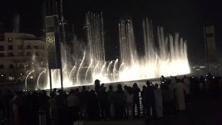 August 11 2015 Dubai 21 BurjKhalifa dancing fountains arabic song