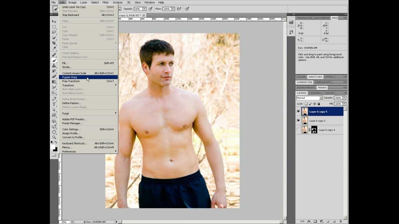 Бесплатные уроки фотошоп коррекция фигуры