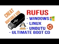 Creating bootable USB by using RUFUS - Windows XP, 7, 8, 8.1, 10, Linux, Unbutu, Slackware