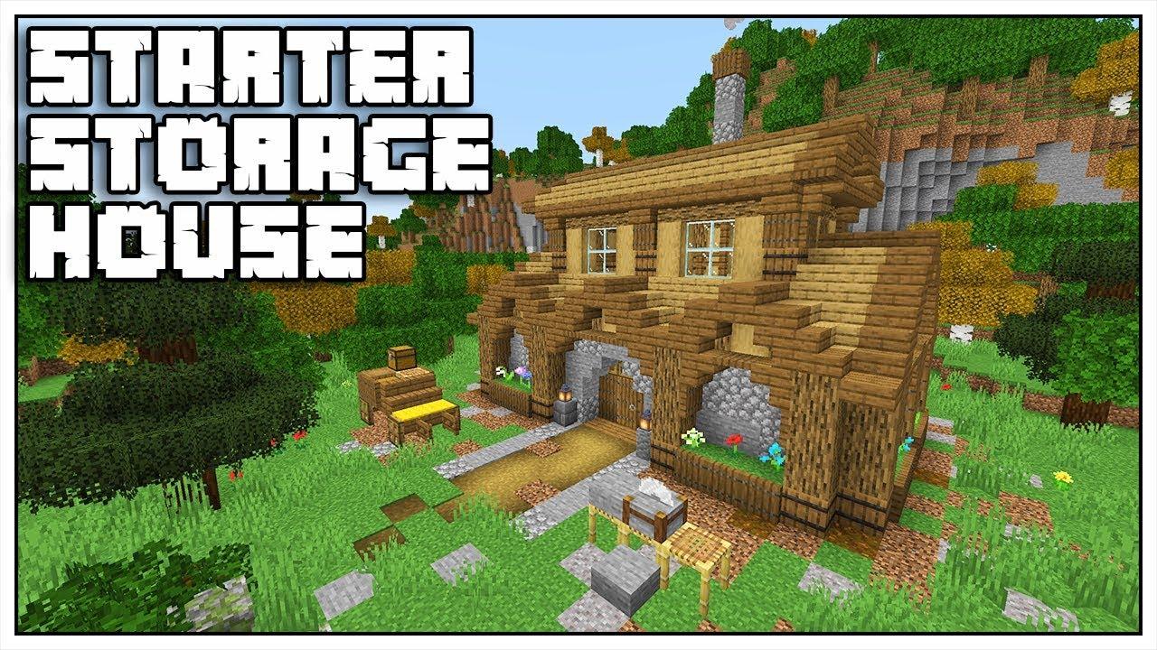 Minecraft Starter Storage House Tutorial