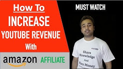 How to increase Youtube revenue with Amazon Affiliate marketing SEO Search Engine Optimization