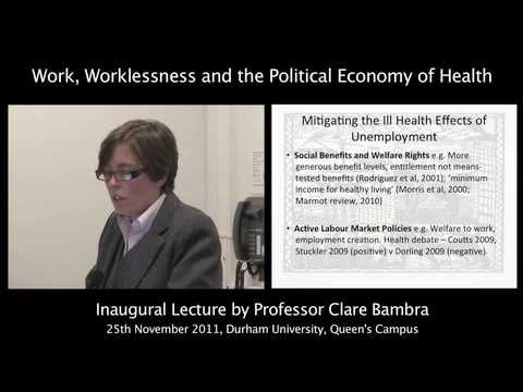 Work, Worklessness and the Political Economy of Health