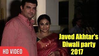 Vidya Balan At Javed Akhtar And Shabana Azmi Diwali Party 2017