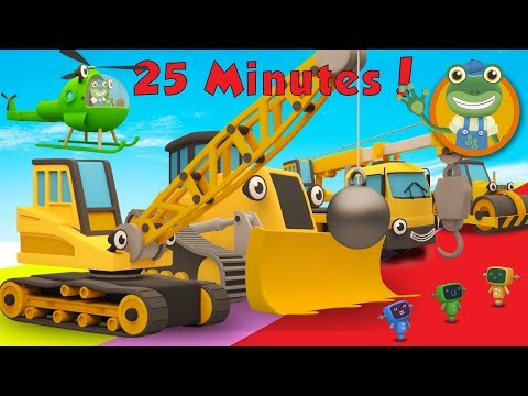 Thumbnail: Ryan The Wrecking Ball Crane and Lots More Construction Trucks | Gecko's Garage