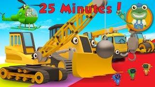 Ryan The Wrecking Ball Crane and Lots More Construction Trucks | Gecko's Garage