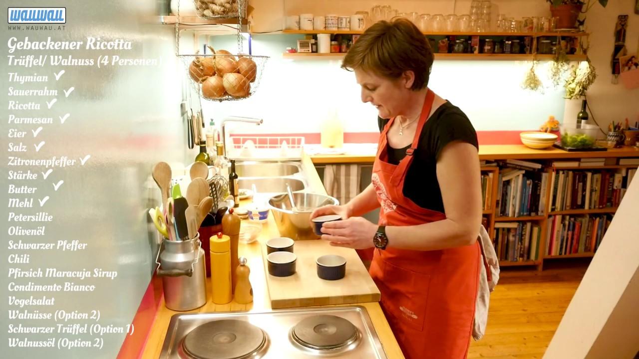Barbaras Küche: Gebackener Ricotta mit Trüffel